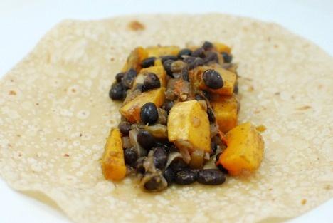"""Black Bean Squash Burritos """"Black beans and squash aren't normally a ..."""