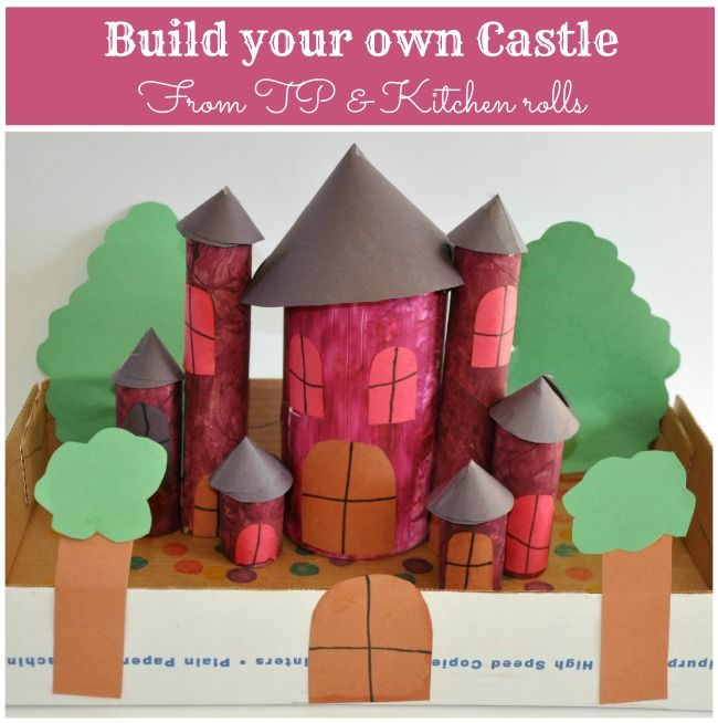 Castle from paper rolls