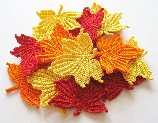 Maple Leaves Applique Crochet Pattern pattern by ...
