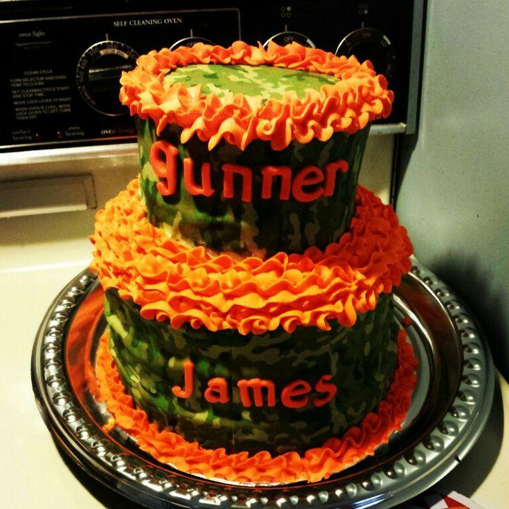 camo baby shower cake i made my cakes and treats i 39 ve made pint