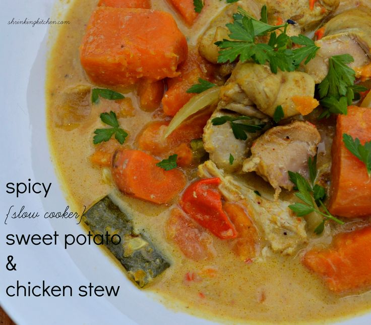 Spicy (Slow Cooker) Sweet Potato and Chicken Stew | Recipe