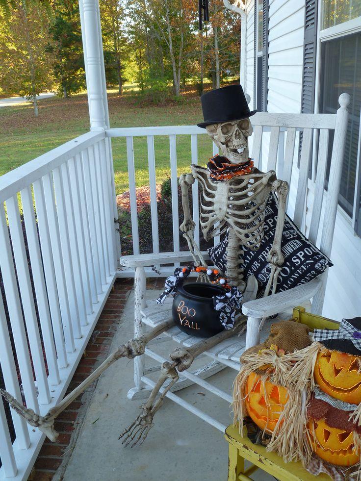 Front Porch Halloween Door Porch Decor Pinterest