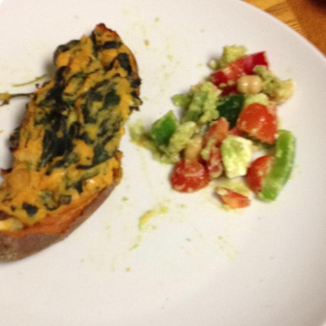 ... ! Avocado feta salad and twice baked sweet potato=yummy dinner