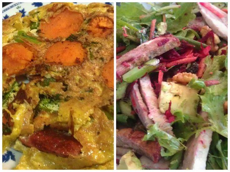 ... potato, chorizo and broccolini frittata. Good breeze tonight so put my
