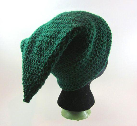 Crochet Zelda Hat : Link Legend of Zelda Hat crochet slouchy by danadooleydesigns, $25.00
