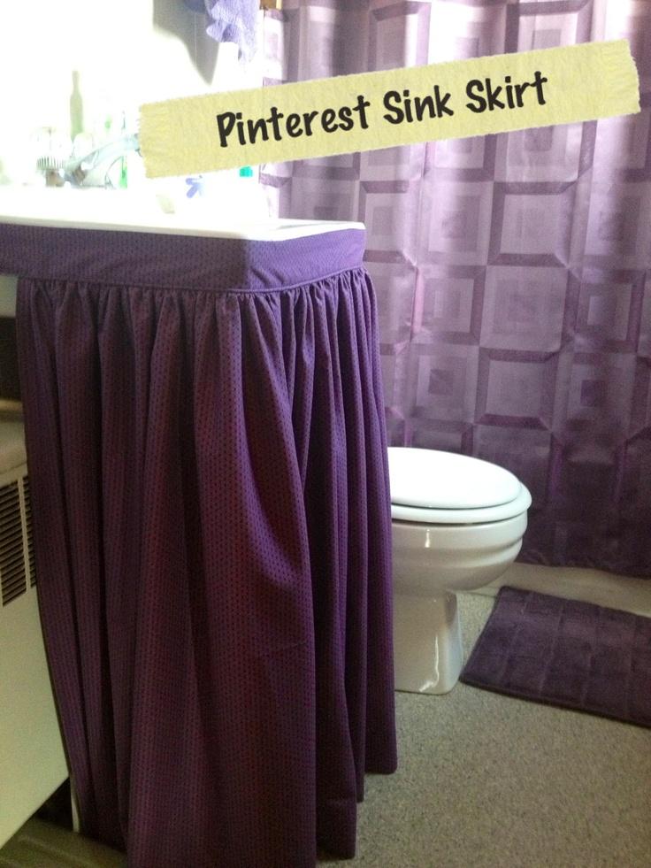 ... Sink Skirt with Bathroom Sink Skirt Ideas also Bathroom Sink Skirt and