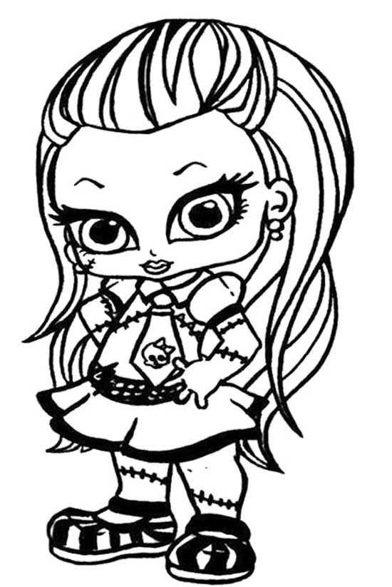 Monster High Frankie Coloring Pages #6