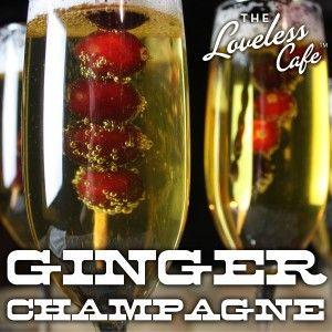 Sparkling Ginger Champagne | Drink | Pinterest