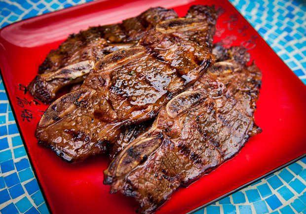 Korean bbq short ribs the foodz pinterest for Bbq boneless short ribs