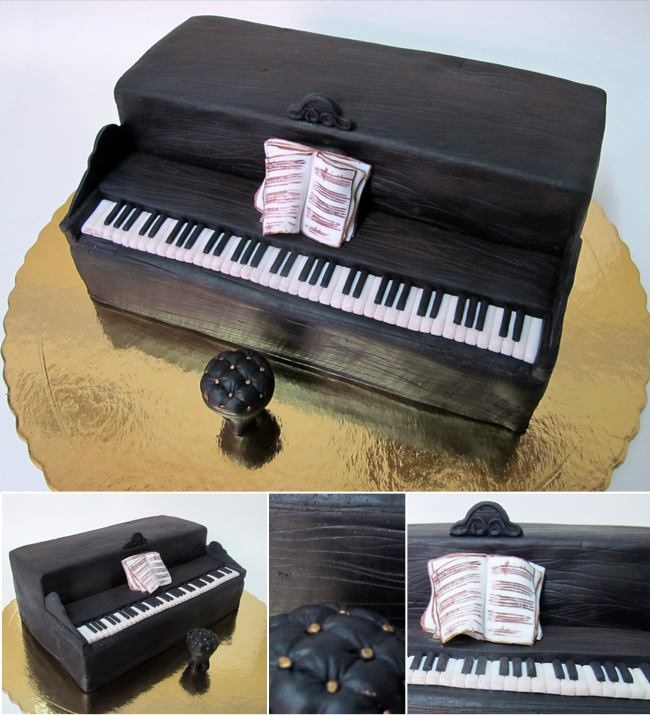 piano cake Cake Design Pinterest