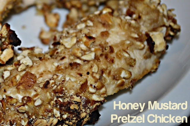 Honey Mustard Pretzel Chicken | Your Little Birdie Cooks | Pinterest