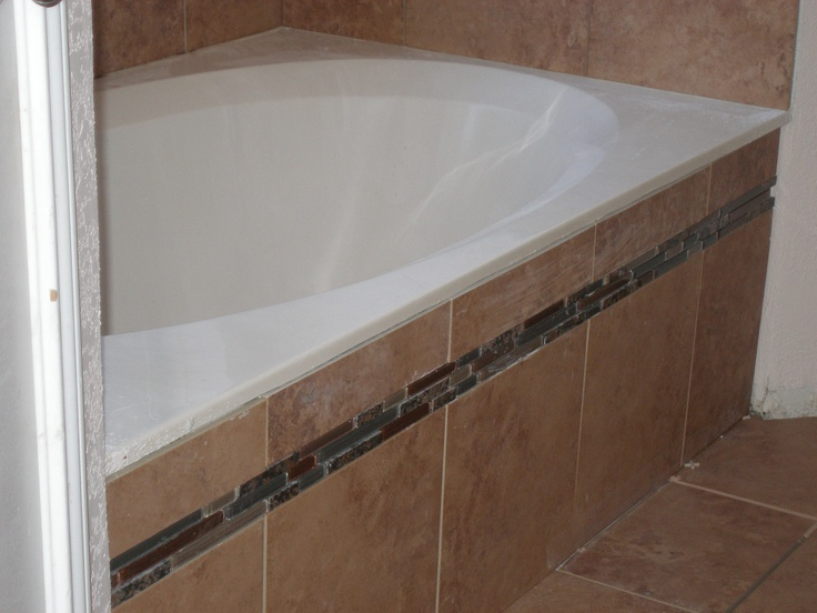 Tile Around The Existing Tub During Bathroom