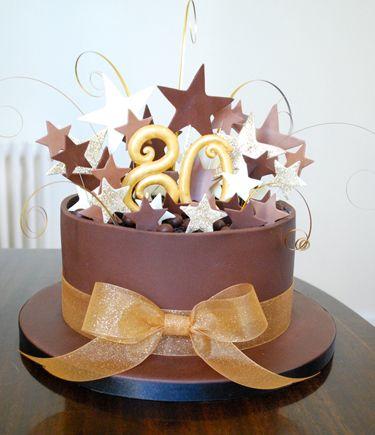 Chocolate Stars Cake Cake Decorating Stuff Pinterest