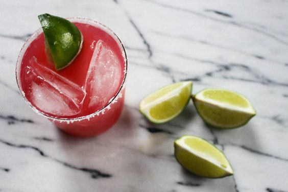Rhubarb Margarita , a recipe on Food52