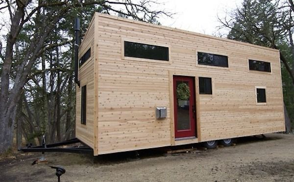 Home A Tiny Mobile Home On Wheels Tiny House Pinterest