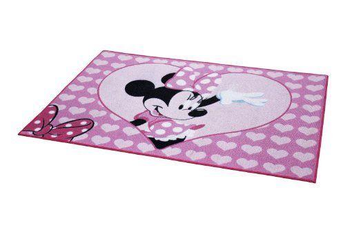 Minnie Maus Minnie Mouse mit Herzen Kinderteppich Teppich ...