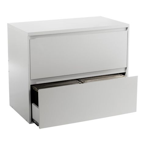 Hummingbird Mystique 2 Drawer Lateral Filing Cabinet White