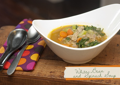 White Bean, Sausage, and Spinach Soup