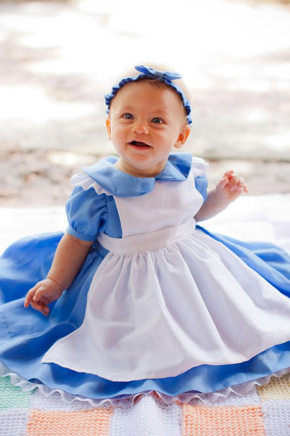 Custom Alice in Wonderland Dress with Pinafore in Baby or