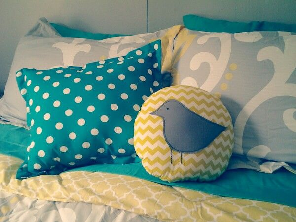 Yellow Teal And Gray Decor Dream Room Pinterest