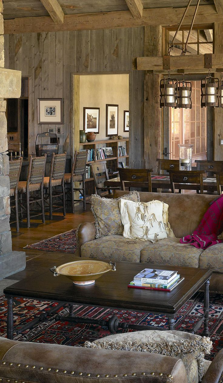 Rustic western living room western decor pinterest for Western living room ideas