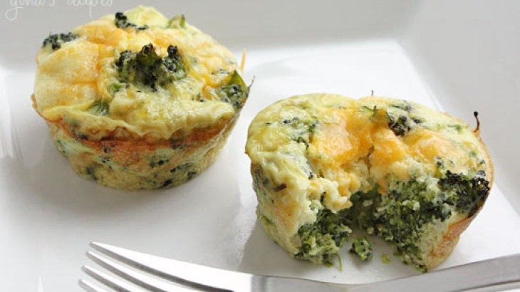 Broccoli and Cheese Mini Egg Omelets - C1 (use fat free cheeses and ...