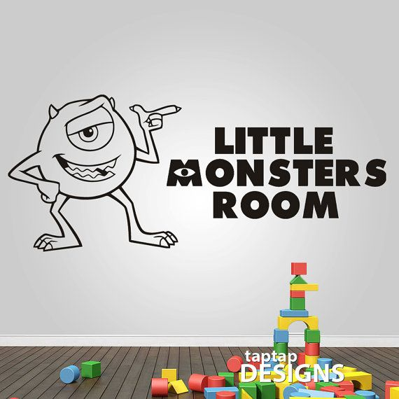 monsters inc mike wall decal sticker sku0109 by wall decal monsters inc wall decals for kids room