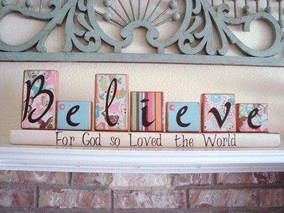 """Seasonal """"Believe"""" blocks that reverse!!! This is beautiful!"""