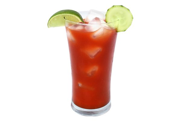 Firecracker 2 oz. Skinnygirl Cucumber Vodka 2 oz. low-sodium tomato ...
