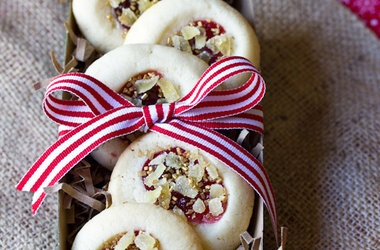 Cherry Ginger Thumbprint Cookies Recipes. #Recipes