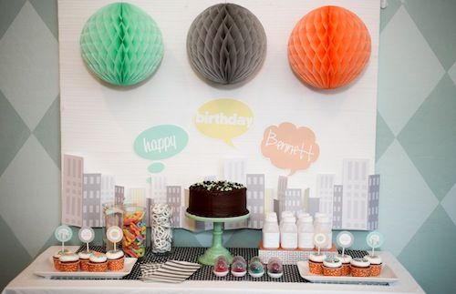 Super Hero Birthday Party - we love the light colors and fun accents to this party! #kidsparty