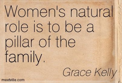 Grace kelly quotes grace kelly women s natural role is to be a