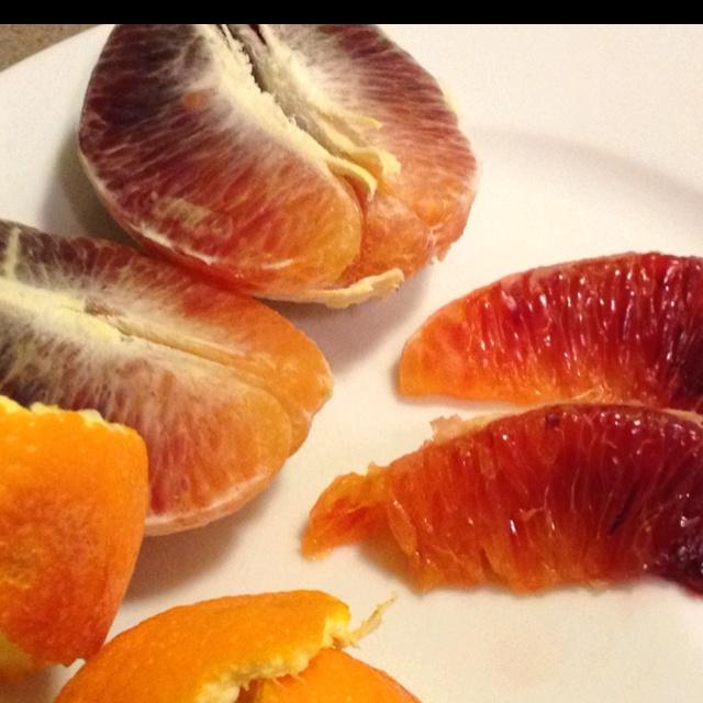 Blood orange color gradient. I love food. | Let