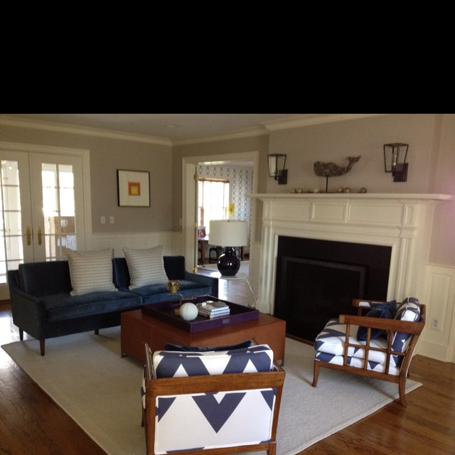 Mid Century Blues Living Room Set Up Home Pinterest