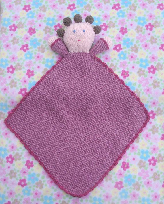 Knitting Pattern For Lovey Blanket : Knit baby lovey pattern