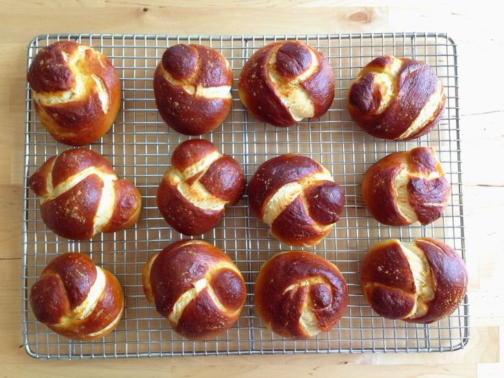 Pretzel Challah Rolls from @Food52 | Food | Pinterest