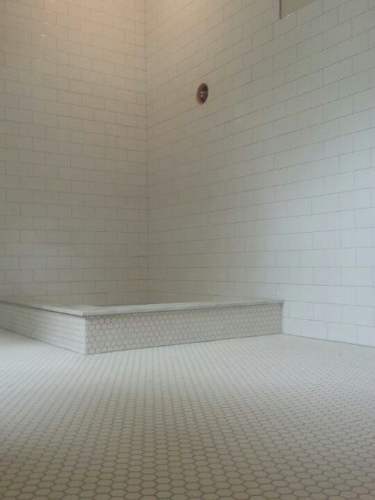 Creative Im In The Process Of Designing My Small Guest Bath Im Thinking Of Using Small Whiteish Honeycomb Tiles On The Floor And In The Shower On The Floor Only With A Greyish Grout The Shower Walls Will Be Subway Tile Is Honeycomb A