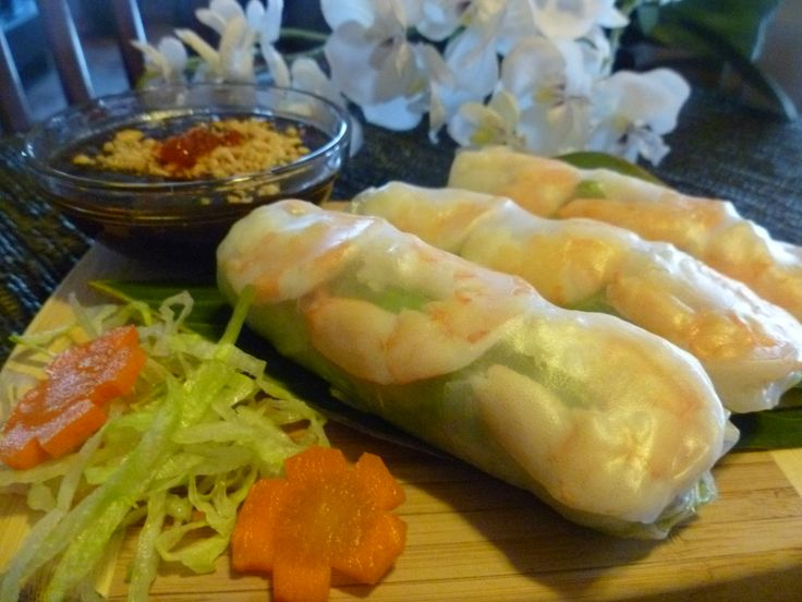 Vietnamese Fresh Shrimp Salad Rolls | Grill n Fish | Pinterest