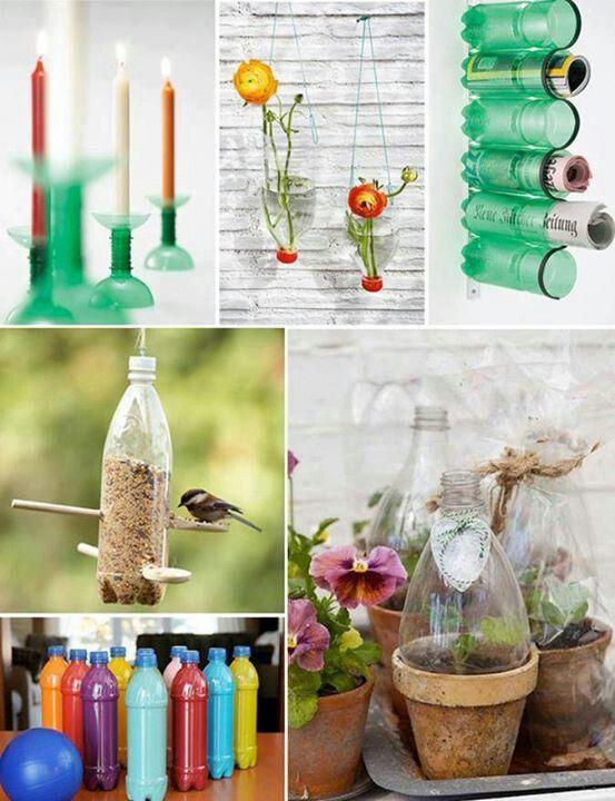 Reuse plastic bottles diy crafts that i love pinterest for Crafts using plastic bottles