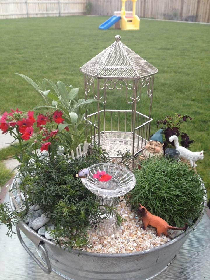 Miniature Fairy Garden Planter Fairy Gardens Pinterest