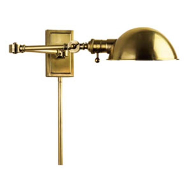 Domicile Swing Arm Wall Lamp Available in 2 Colors: Blackened Bronze,?