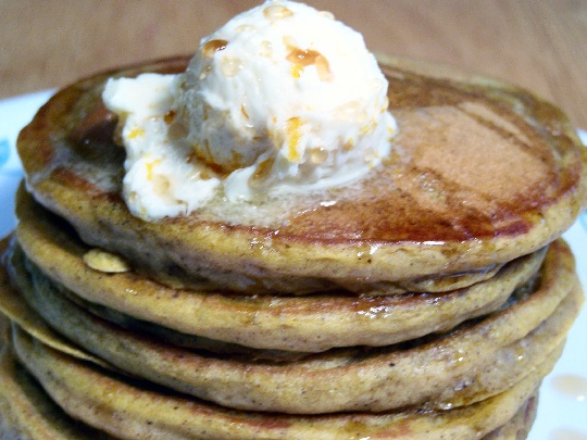 Pumpkin Spice Pancakes and Orange Maple Butter