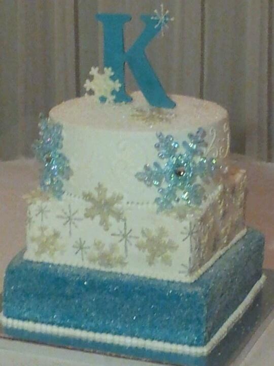 winter themed cake | Cakes | Pinterest