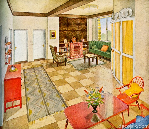1920s Interior Color Historic Paint Interiors Palettes Pintere