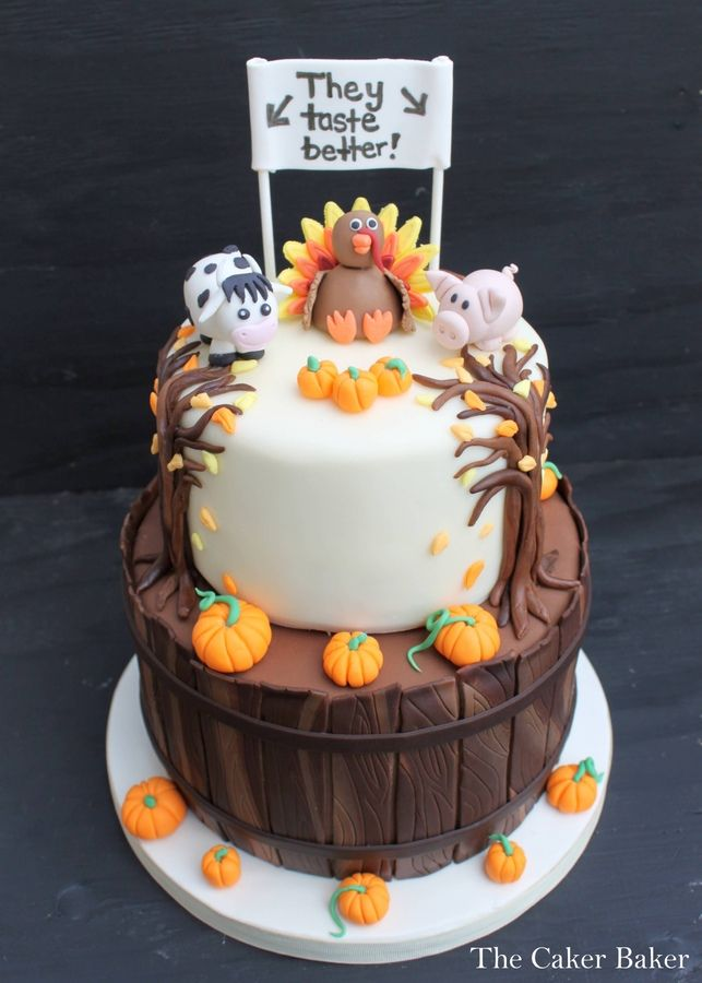 Cake Design For Thanksgiving : I donated this cake to my Daughters school to be auctioned ...