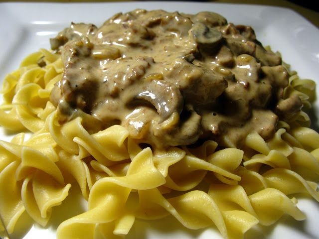 Slow cooker beef stroganoff easy food and recipes pinterest