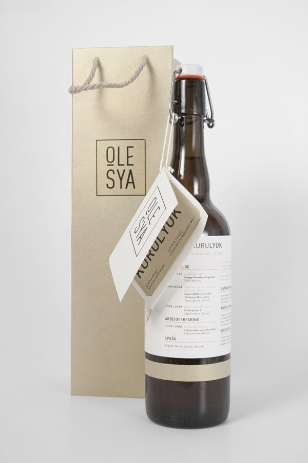 Self promotion by Olesya Kurulyuk, via Behance  packaging cv - very memorable.. but isn't it too much?