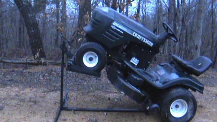 Riding Lawn Mower Lift Lawn Mower Lift Homemade