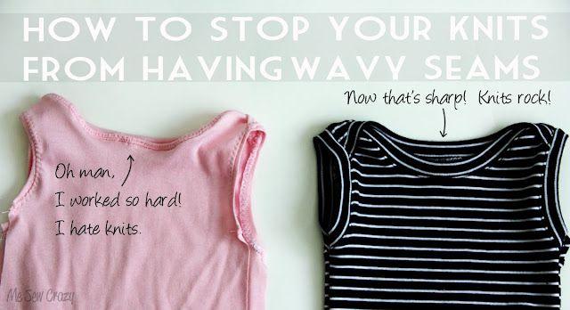 Me Sew Crazy: END 'Knit Wavy Seam Syndrome'... @Jessica Abbott