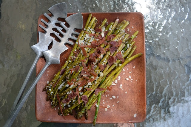 Roasted Asparagus with Prosciutto and Parmesan